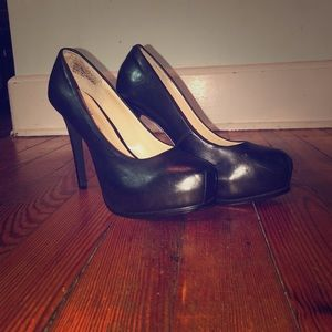 Black High Heel Platform Pumps